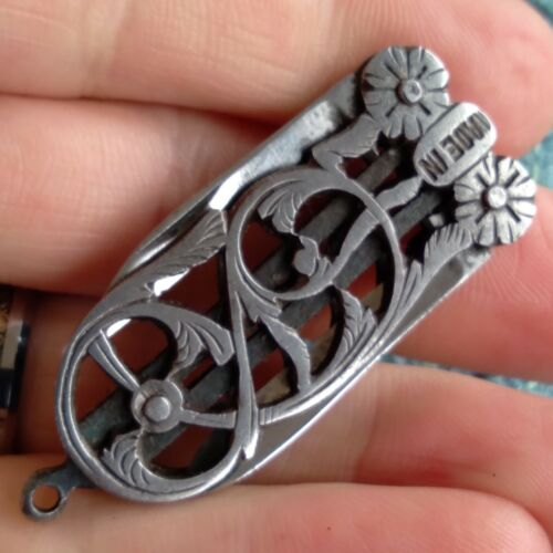 Vintage Antique Italian Fancy Pen Fob Railroad Folding Pocket Knife