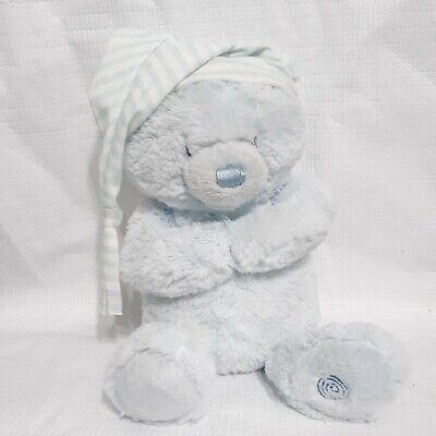 RARE Baby Gund Goodnight Prayer Bear BLUE Teddy Animated Plush Toy Talks Motion