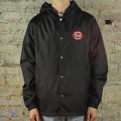 Brixton Merced Hooded Jacket Coat in Black in size S,M,L