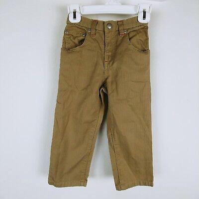 baby GAP Boys Jeans Textured Semi-Elastic Belt Loops Pockets Brown 3XL for sale  Orlando