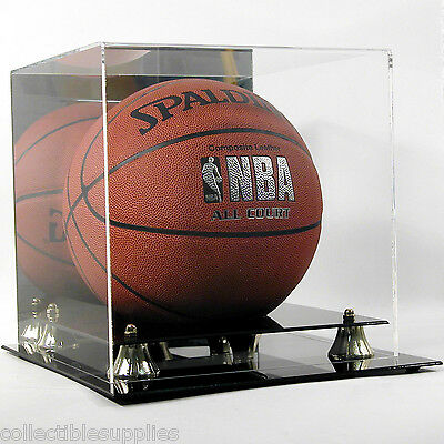 Deluxe UV Full Size Basketball Display Case Holder w/ Mirror Back - Brand New!