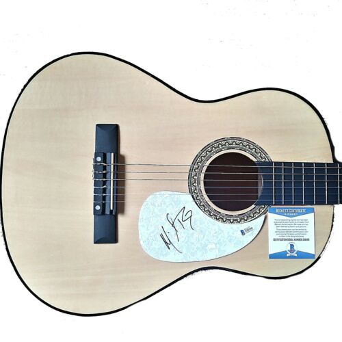 Michael Ray Signed Acoustic Guitar Proof Beckett BAS COA Country Music Autograph