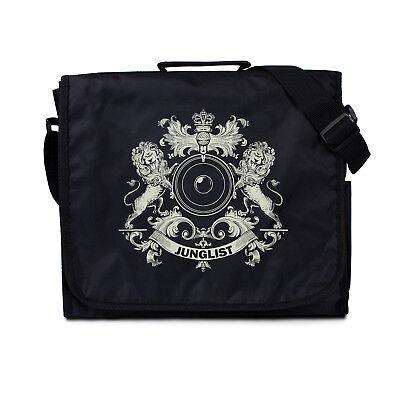 Crest Messenger (Messenger Bag Junglist Crest Drum & Bass DJ Shoulder Record Cross Body Vinyl LP)