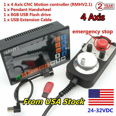 Usa 4 Axis Offline Motion Controller 500khz Cnc Stand-alone Control Systemmpg
