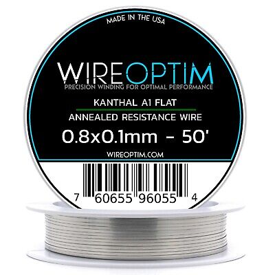 0.8 X 0.1 Mm Kanthal A1 Ribbon Flat Resistance Wire 50 - 50 Ft