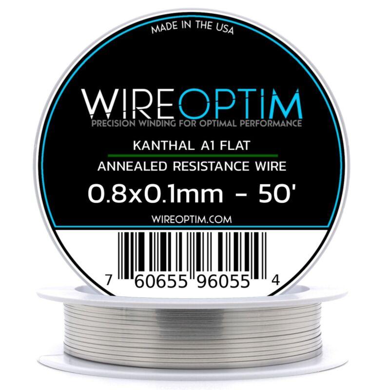 0.8 x 0.1 mm Kanthal A1 Ribbon Flat Resistance Wire 50