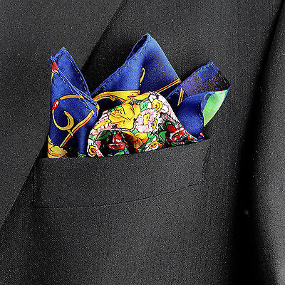 100% Silk Mens Pocket Square Rush Limbaugh No Boundaries Flower Pot Hanky New