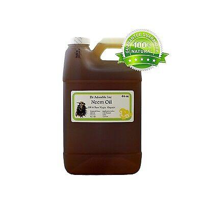 64 Oz Premium Neem Oil Pure Organic Cold Pressed Best Fresh Multi
