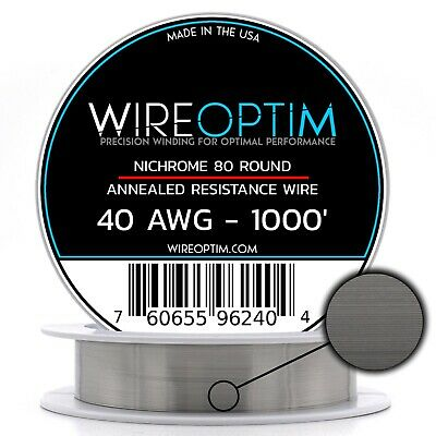 40 Gauge Awg Nichrome 80 Wire 1000 Length - N80 Wire 40g Ga 0.08 Mm 1000 Ft