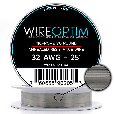 32 Gauge Awg Nichrome 80 Wire 25 Length - N80 Wire 32g Ga 0.20 Mm 25 Ft