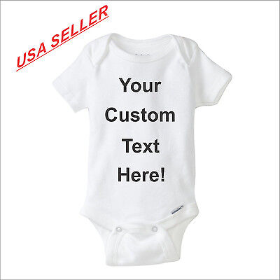 Custom Gerber Onesie Personalized infant baby shower cute funny shirt gift
