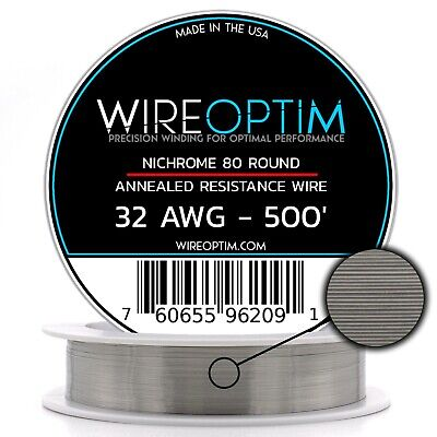 32 Gauge Awg Nichrome 80 Wire 500 Length - N80 Wire 32g Ga 0.20 Mm 500 Ft