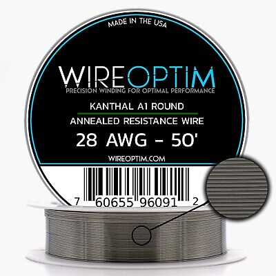 28 Gauge Awg Kanthal A1 Wire 50 Length - Ka1 Wire 28g Ga 0.32 Mm 50 Ft