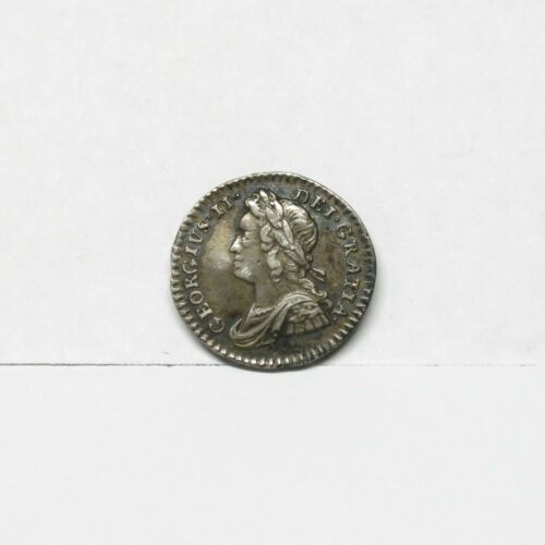 1743 George II Maundy Silver Penny w/ Beautiful Detail & Patina