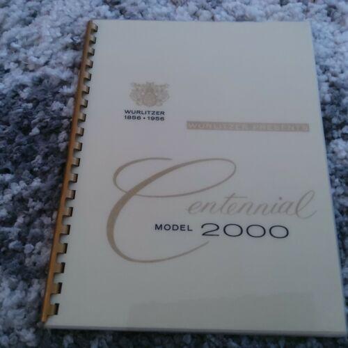 Wurlitzer Jukebox 2000 Wall Box 5210 Sales Brochure (AMR Deluxe Publication)