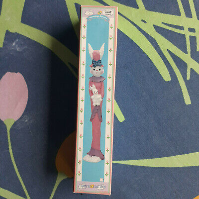 """Hermitage Pottery Vintage Poly Stone Pencil Easter Bunny - 7"""" Tall"""