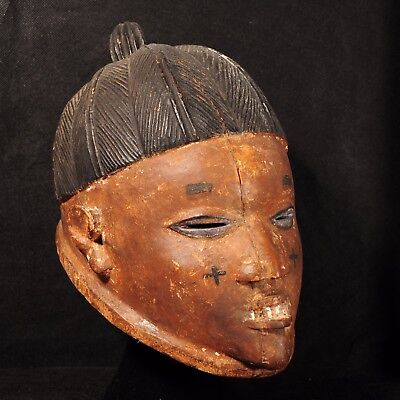 Late 19th Century Life-Like & Expertly Handcrafted Wooden Yoruba Gelede Mask