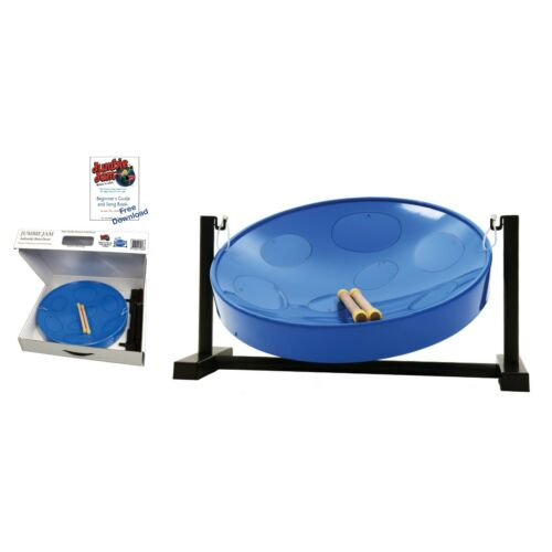 Jumbie Jam Steel Drum Kit – Table Top Stand - Blue Pan (G)