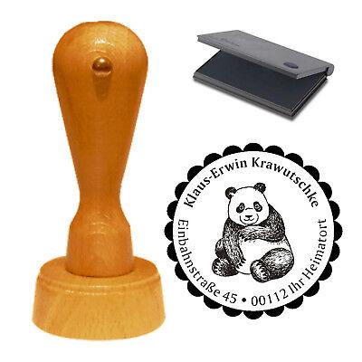 Stempel « süßer PANDA » Adressenstempel Motiv Name Adresse Pandas Pandabär China