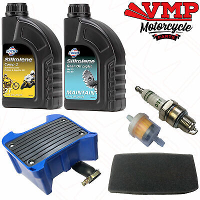 <em>YAMAHA</em> PW80 PY80 SERVICE KIT ENGINE  GEAR OIL SPARK PLUG FUEL AIR BOX