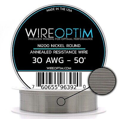 Wireoptim Annealed Ni200 Nickel 30 Gauge Awg 50 Non Resistance Wire