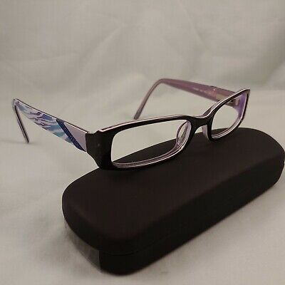 CANDIES Eyeglass Frames Plastic ANDREA Full Rims Purple Blue Black (Zebra Eyeglass Frames)