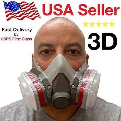 3d Half Face Respirator Large Brand New May 2020 Stock Respirator Paint