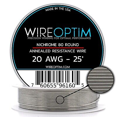 20 Gauge Awg Nichrome 80 Wire 25 Length - N80 Wire 20g Ga 0.81 Mm 25 Ft