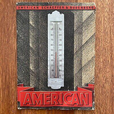 American Thermometers Ashcroft Hancock Schaeffer & Budenberg Catalogue Book