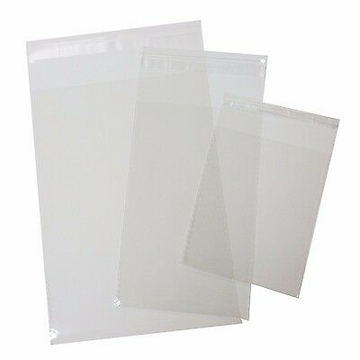 100 pcs Resealable Poly Bags Transparent Opp Bag Plastic Bags Self Adhesive Seal - Resealable Poly Bags