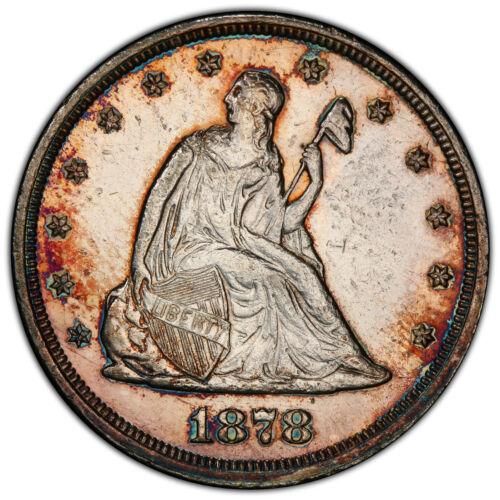 1878 20c PCGS PR 58 ~ LOW MINTAGE PROOF TWENTY CENT KEY