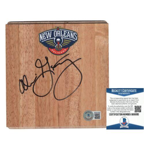 Alvin Gentry Pelicans Signed Basketball Floor Board Beckett BAS Autograph Cert