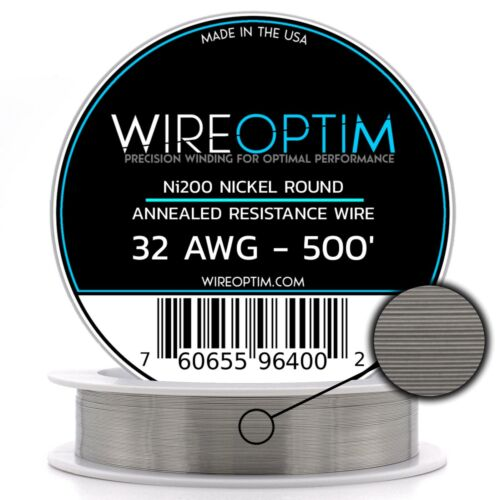 WIREOPTIM Annealed Ni200 Nickel 32 Gauge AWG 500
