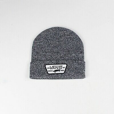 Vans Milford Fold Beanie Hat Brand New In Black/White
