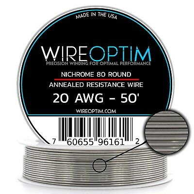 20 Gauge Awg Nichrome 80 Wire 50 Length - N80 Wire 20g Ga 0.81 Mm 50 Ft