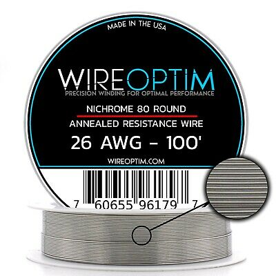 26 Gauge Awg Nichrome 80 Wire 100 Length - N80 Wire 26g Ga 0.40 Mm 100 Ft