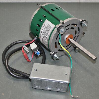 Dayton Ecm Direct-drive Varible Speed Electric Motor 43y136 14 Hp 12 Shaft