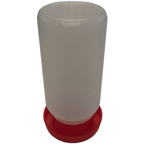 RITE FARM PRODUCTS QUAIL & CHICK SAFETY WATERER DRINKER BASE & QUART JAR CHICKEN
