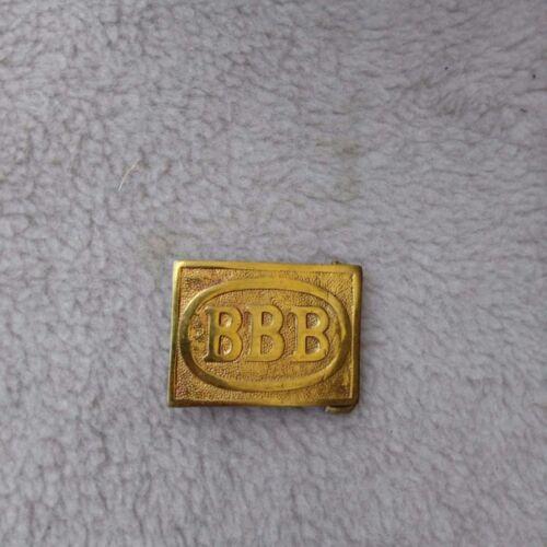 BBB Baptist Boys Brigade early Boy Scouts brass belt buckle