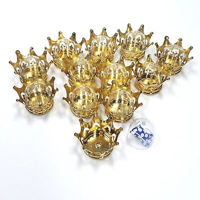 12PC Fillable Baby Shower Wedding Birthday Party Favors Crown Table Decoration - Wedding Table Favors