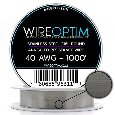 Ss 316l - 40 Awg Stainless Steel Wire 316l 0.0799mm - 1000