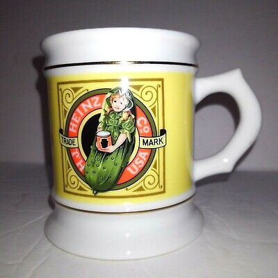 VINTAGE 1984 HEINZ SWEET PICKLES COFFEE MUG PORCELAIN Great Vtg Advertising