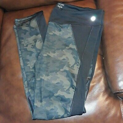 New Women's With an increment of 3X CAMO BLACK performance Activewear Calf Mesh Panel Leggings