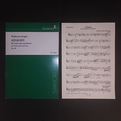 Woldemar Bargiel - Adagio for Cello and Piano, Op. 38 - Sheet Music - Score