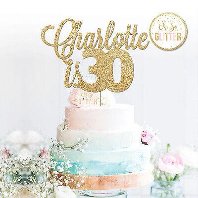 CUSTOM 30 Cake Topper, Personalised,16,18,21,30,40,50,60, 30th Birthday cake