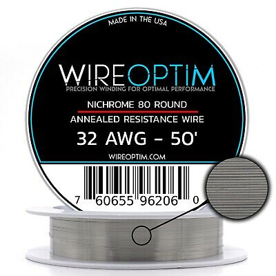 32 Gauge Awg Nichrome 80 Wire 50 Length - N80 Wire 32g Ga 0.20 Mm 50 Ft