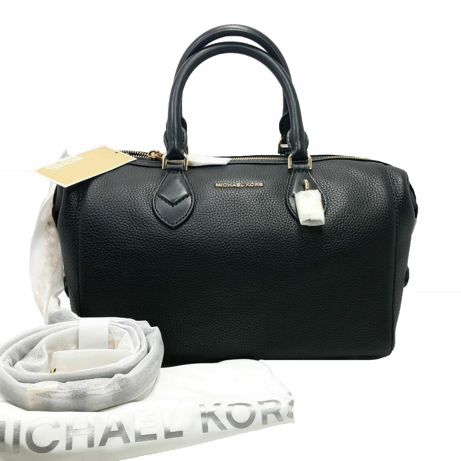Michael Kors Grayson Large Black Leather Convertible Satchel