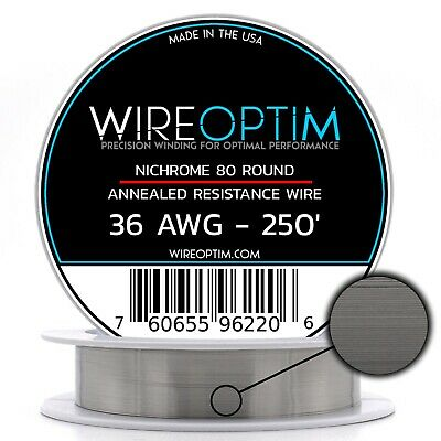 36 Gauge Awg Nichrome 80 Wire 250 Length - N80 Wire 36g Ga 0.127 Mm 250 Ft