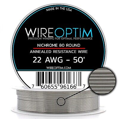 22 Gauge Awg Nichrome 80 Wire 50 Length - N80 Wire 22g Ga 0.64 Mm 50 Ft