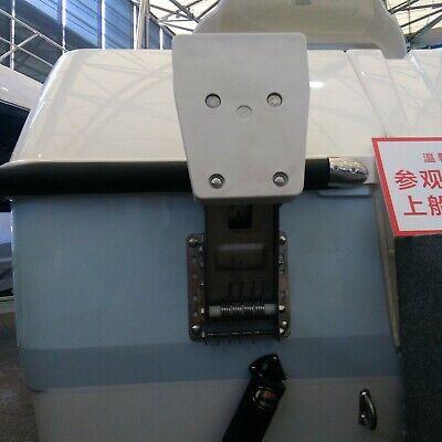Aluminium Outboard Kicker Motor Bracket Mount for Boat Heavy Duty White PVC Base Outboard Motor Mount Bracket